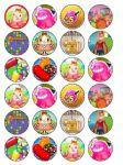 24 x Candy Crush Saga Wafer Paper Cup Cake Birthday Toppers